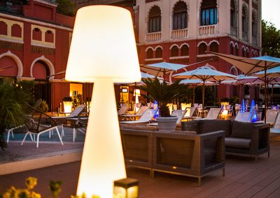 Lighting Project Hotel Excelsior Bullard Bollards