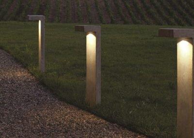 Outdoor LED bollard made of CONCRETE 1093B-3011 - Bullard Bollards Lighting (1)