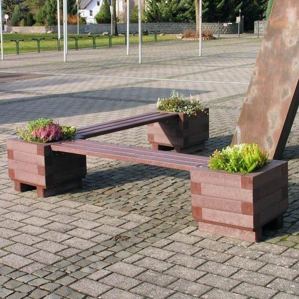 Iona bench planter